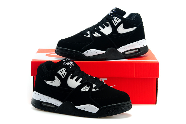 Women Nike Air Flight 89 Black White Shoes