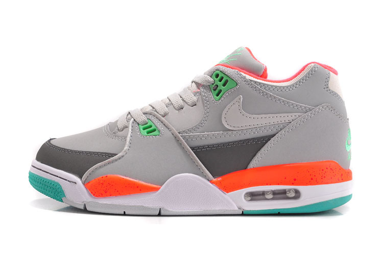 Nike Air Flight 89 Grey Orange White Green For Women
