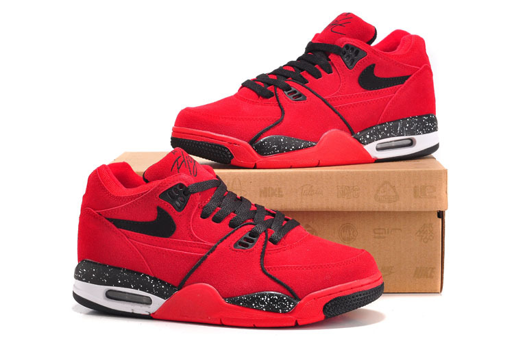 Nike Air Flight 89 Red Black For Women