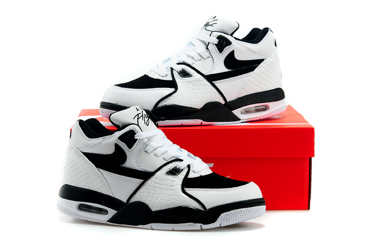 Nike Air Flight 89 White Black Shoes