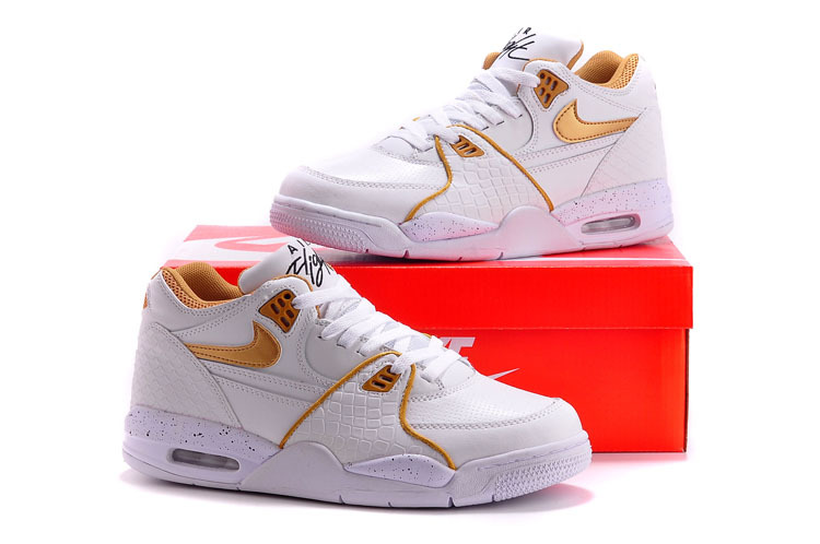 Nike Air Flight 89 White Gold Shoes