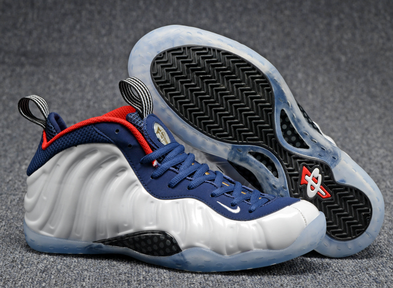 Nike Air Foamposite One Olympic White Blue Red Shoes