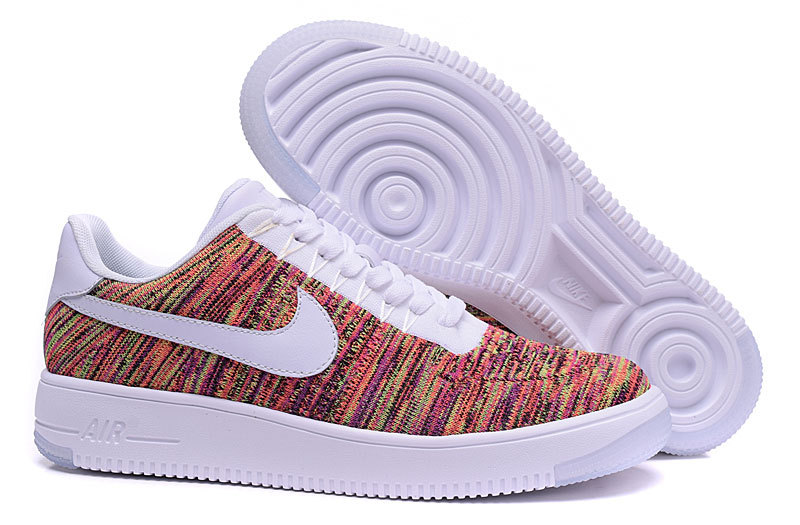 Nike Air Force 1 Flyknit Colorful White Lover Shoes