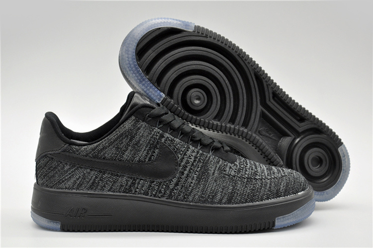 Nike Air Force 1 Flyknit Deep Grey Shoes