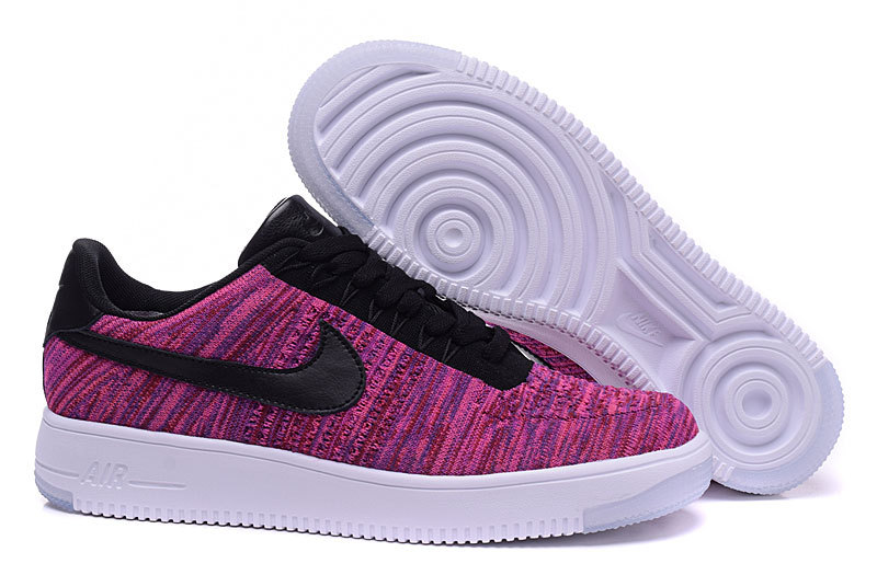 Nike Air Force 1 Flyknit Purple Black Shoes