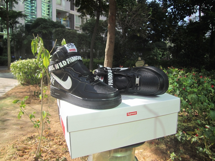 Nike Air Force 1 High Supreme SP Black White Shoes