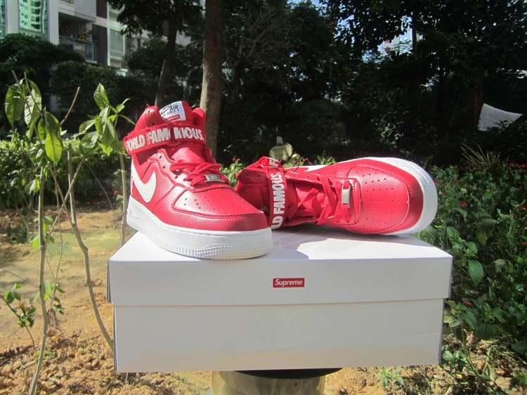 Nike Air Force 1 High Supreme SP Red White Shoes