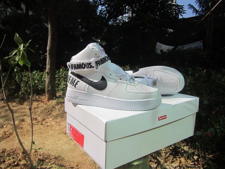 Nike Air Force 1 High Supreme SP White Black Shoes