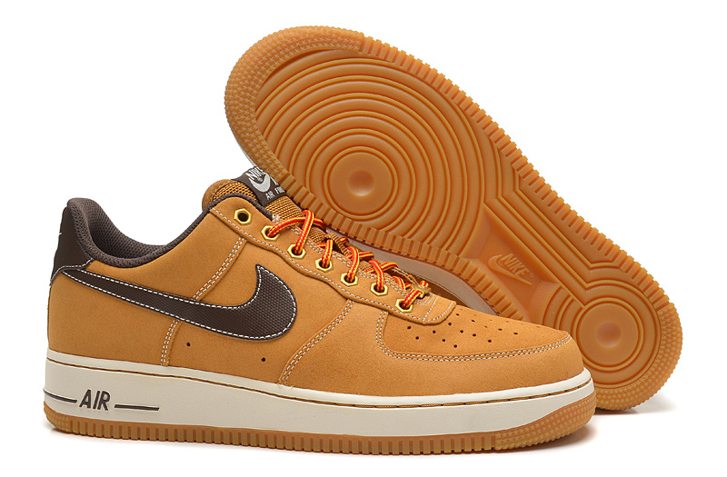 Nike Air Force 1 Wheat Yellow Shoes