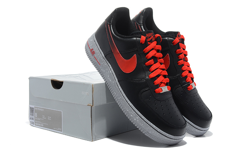 Nike Air Force Gradual Black Red Shoes