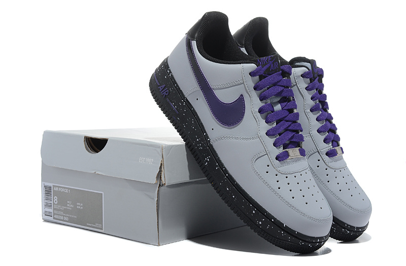 Nike Air Force Gradual Grey Purple Shoes