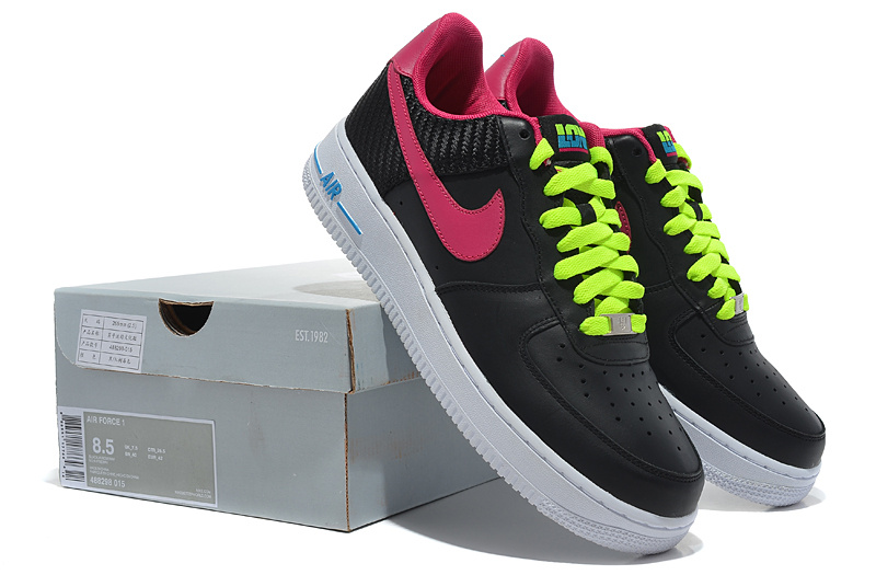 Nike Air Force Olympic Black Red Green Shoes