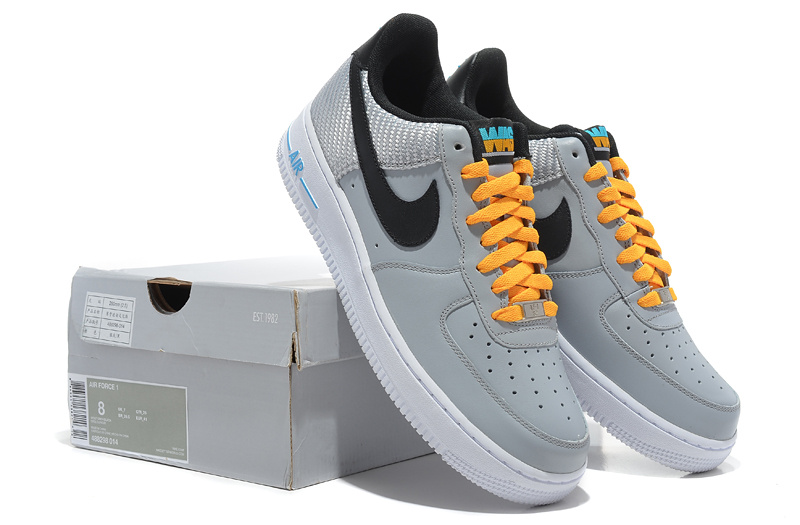 Nike Air Force Olympic Wolf Grey Black Yellow Shoes