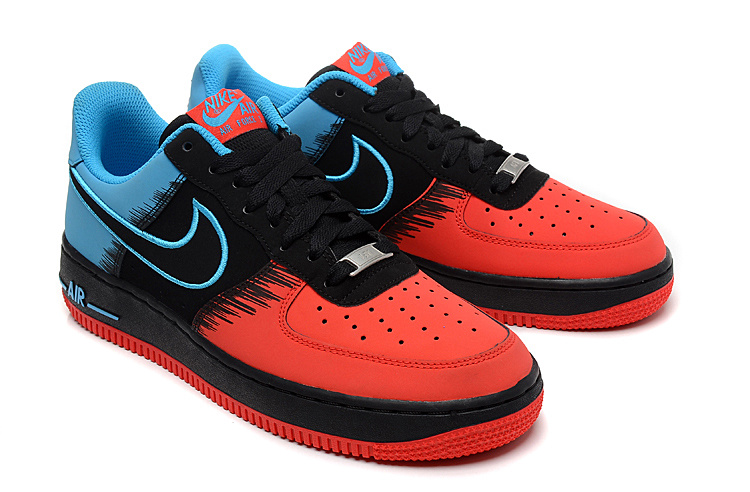 Nike Air Force Spiderman Red Black Blue Shoes