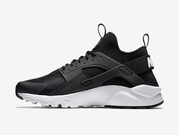 Women Nike Air Huarache Run Ultra Black White Shoes