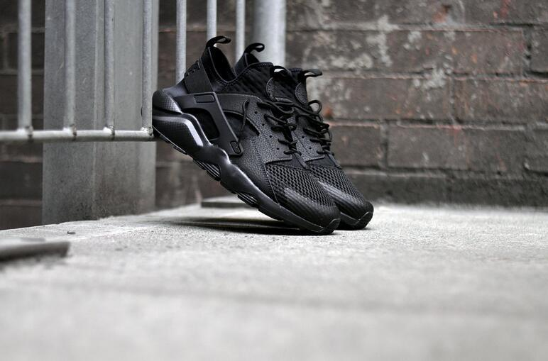 Women Nike Air Huarache Run Ultra Breath All Black Shoes