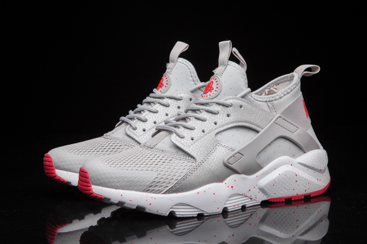 Nike Air Huarache Ultra Silver Grey Red Shoes