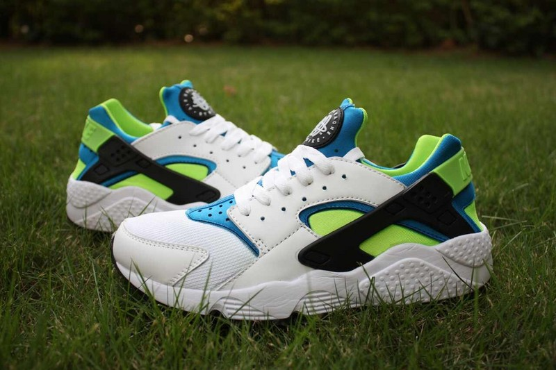 Nike Air Huarache White Green Black Women's Shoes
