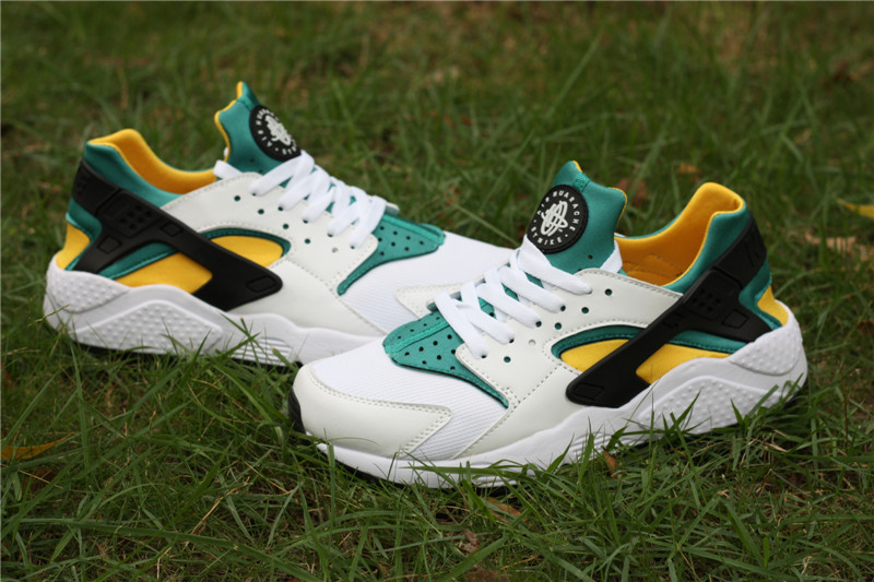 Nike Air Huarache White Green Yellow Women's Shoes