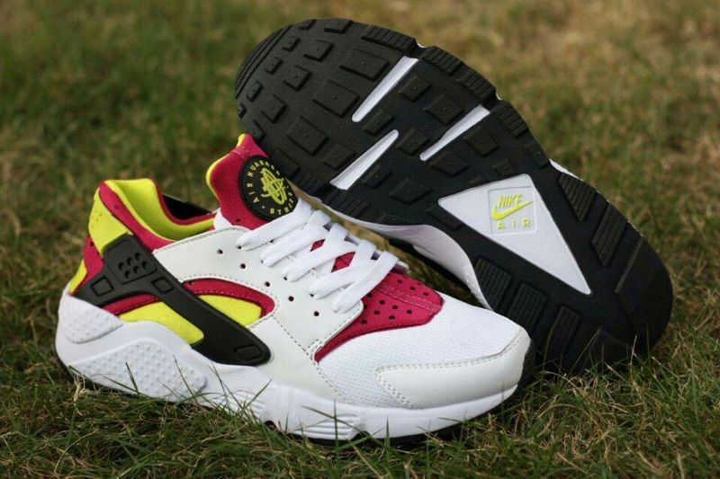 Nike Air Huarache White Purple Red Fluorscent Yellow Womens Shoes