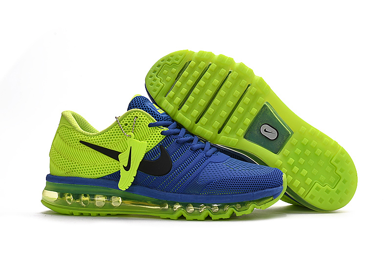 Nike Air Max 2017 Blue Fluorscent Green Shoes