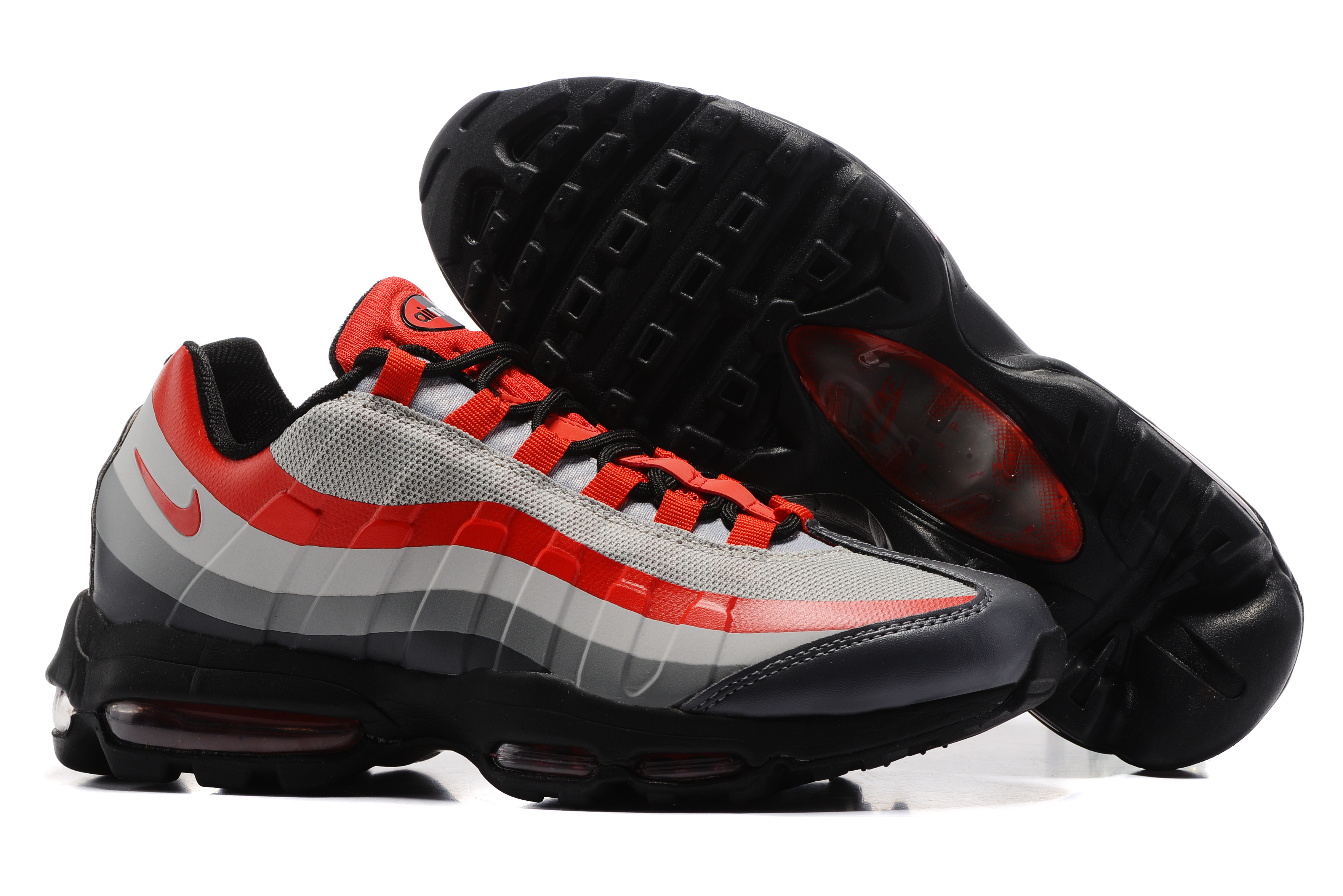Nike Air Max 95 Grey Red Black Shoes