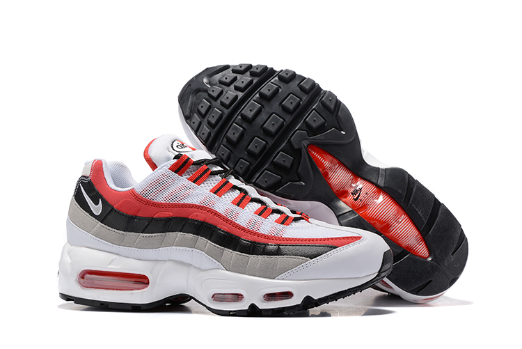 Nike Air Max 95 White Red Black Shoes