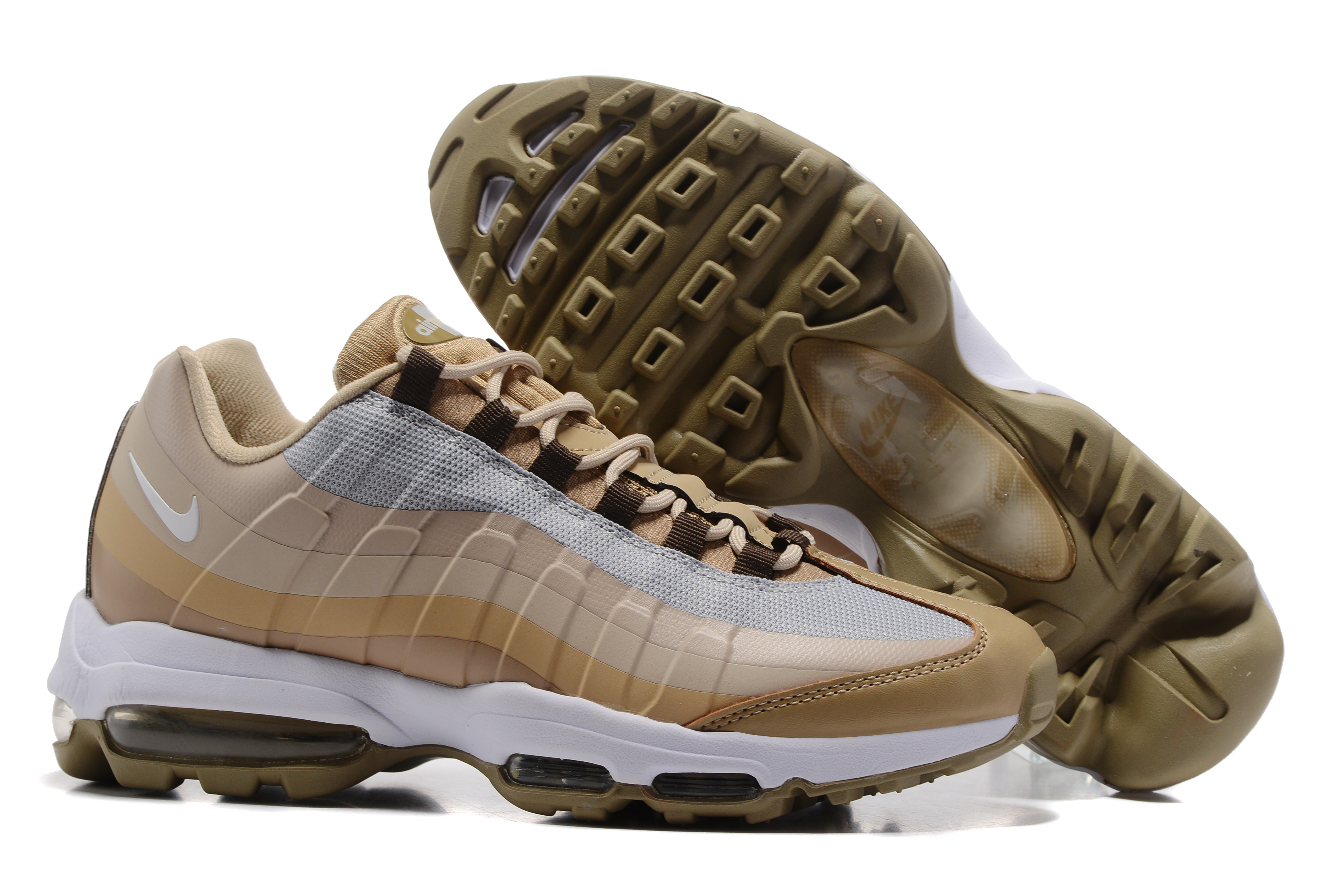 Nike Air Max 95 Yellow Brown Shoes