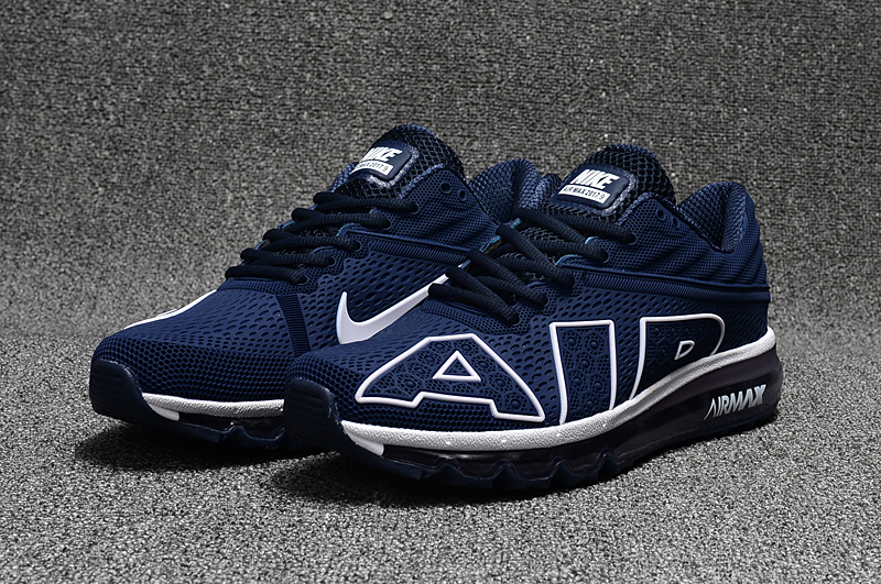 2017 Nike Air Max Flair Blue White