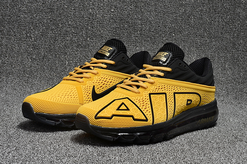 2017 Nike Air Max Flair Yellow Black