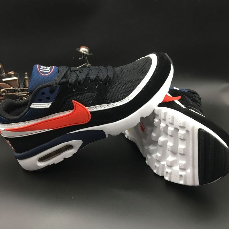 Nike Air Max Premium BW Black Deep Blue Red White Shoes