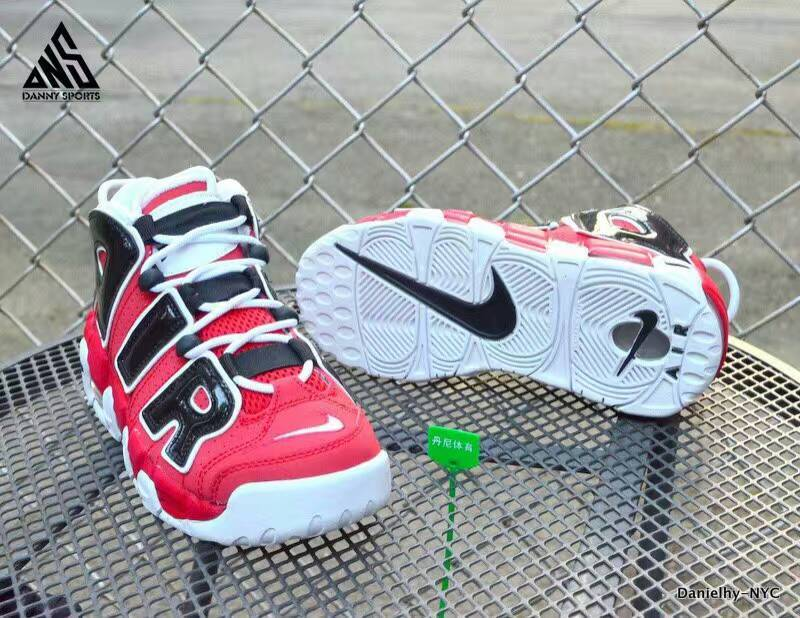 Nike Air More Uptempo Red White Black Lover Shoes