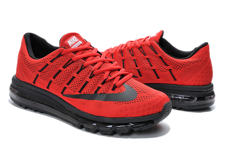 Nike Air Mx 2016 Red Black Shoes