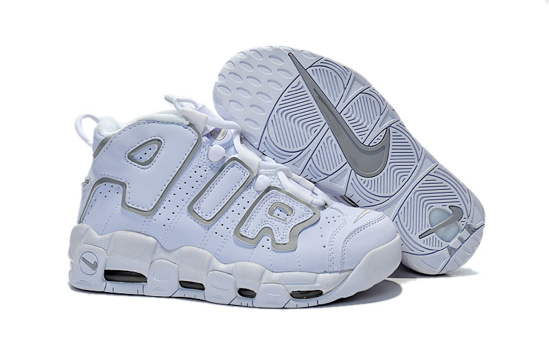 Nike Air Pippen All White Grey Shoes For Women