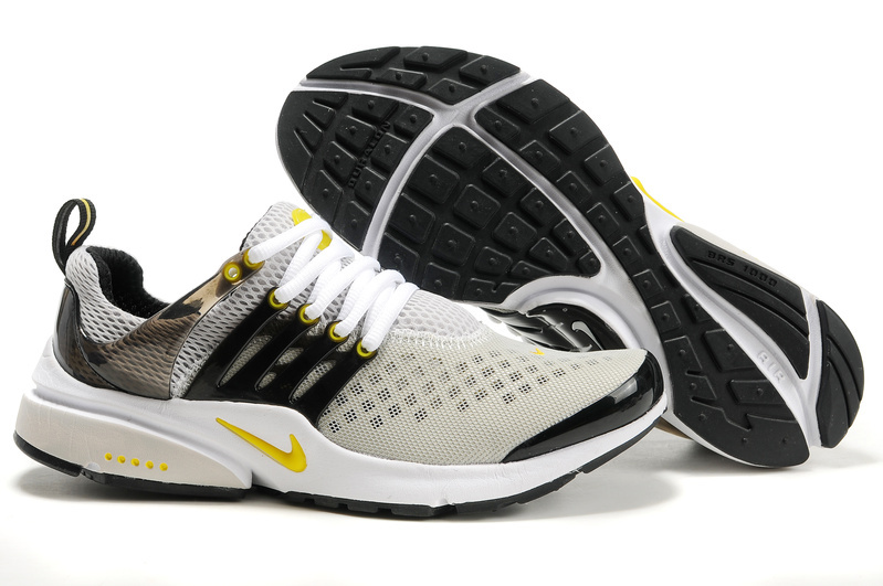 Nike Air Presto 2 Carve Grey Black Yellow White Shoes With Big Holes