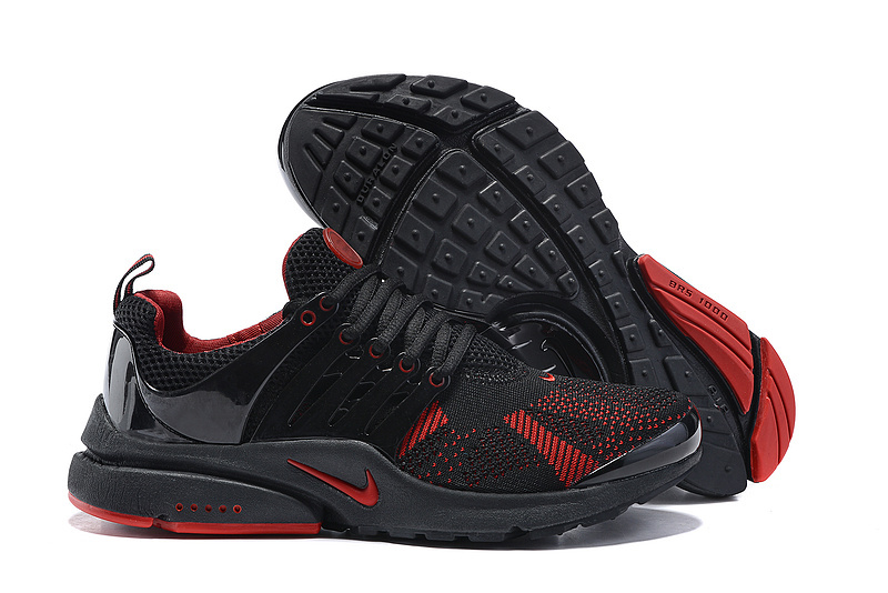 Nike Air Presto Knit Black Red Running Shoes
