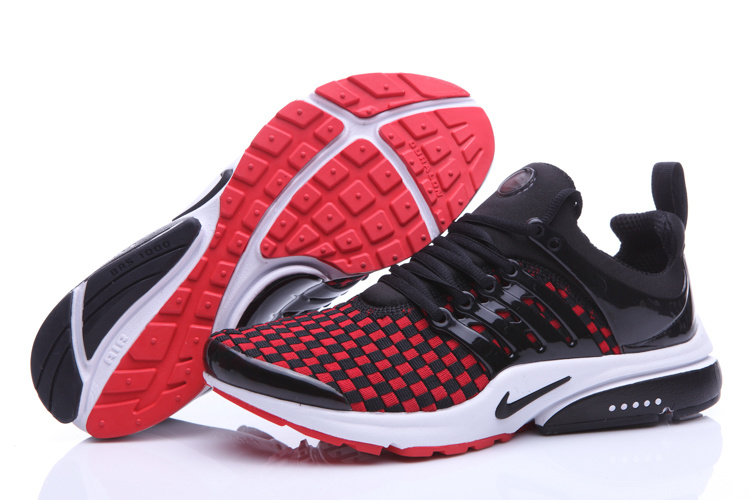 Nike Air Presto Knit Black Red White Shoes
