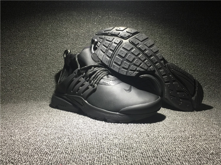 Nike Air Presto Mid Utility All Black Shoes
