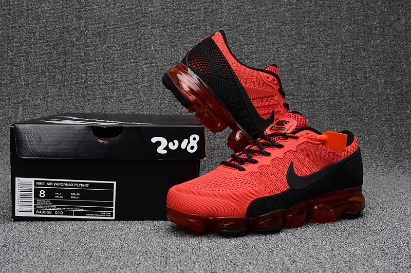 2017 Nike Air Vapormax Flyknit Red Black