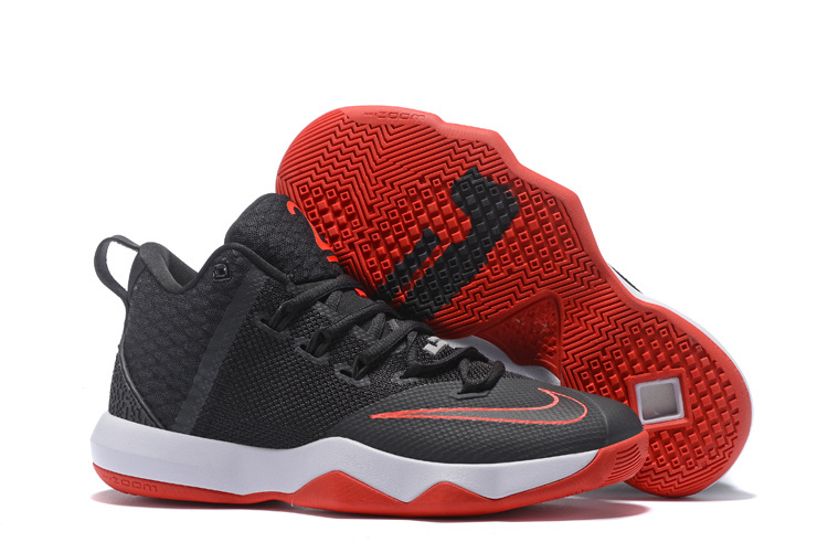 Nike Ambassador IX Basketball Black Red White Shoes