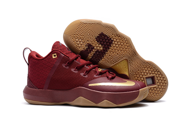 Nike Ambassador IX Basketball Red Gold Shoes