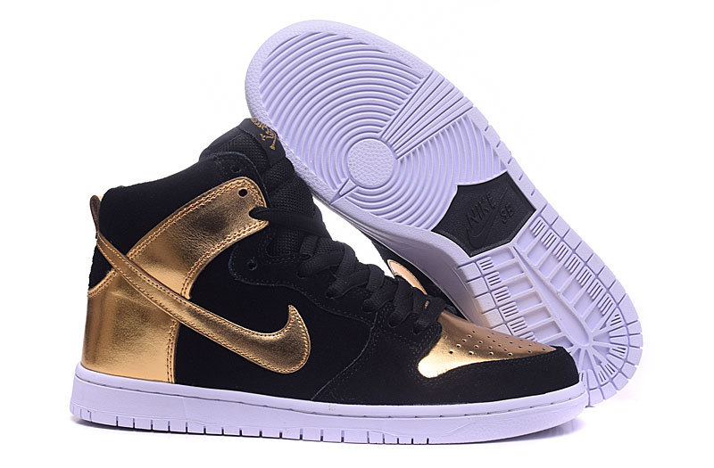 Nike Dunk High Black Gold Shoes