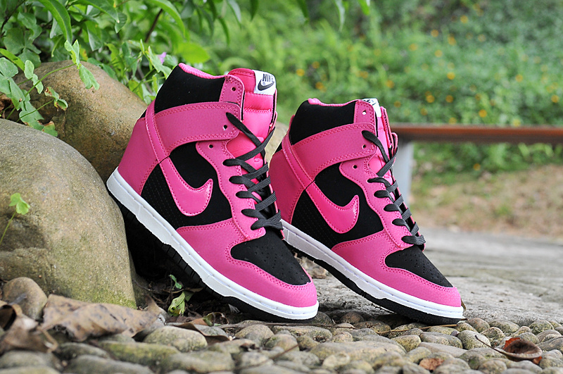 Nike Dunk SB High Pink Black White Shoes