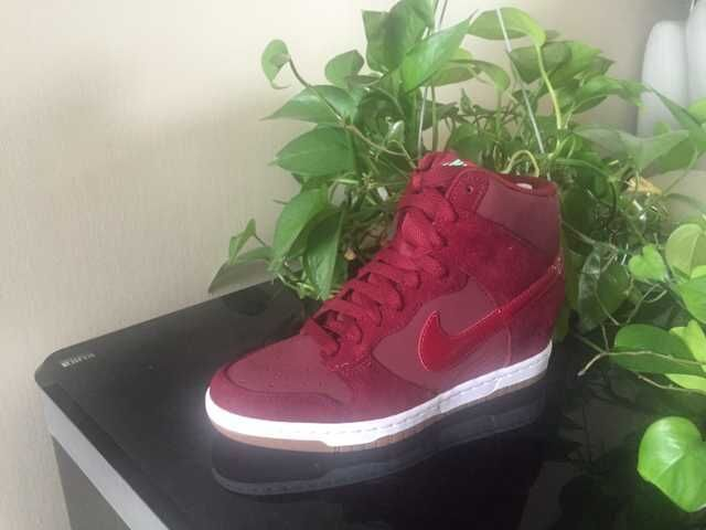 Nike Dunk SB High Wine Red White Shoes