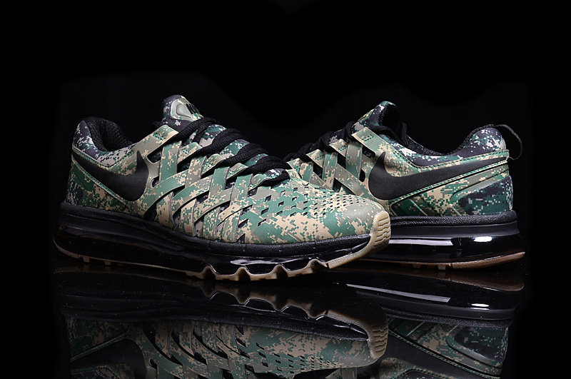 Nike Fingertrap Air Max Army Green Black Shoes
