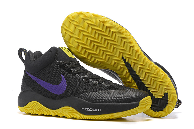 Nike HyperRev 2017 Black Yellow Purple Shoes