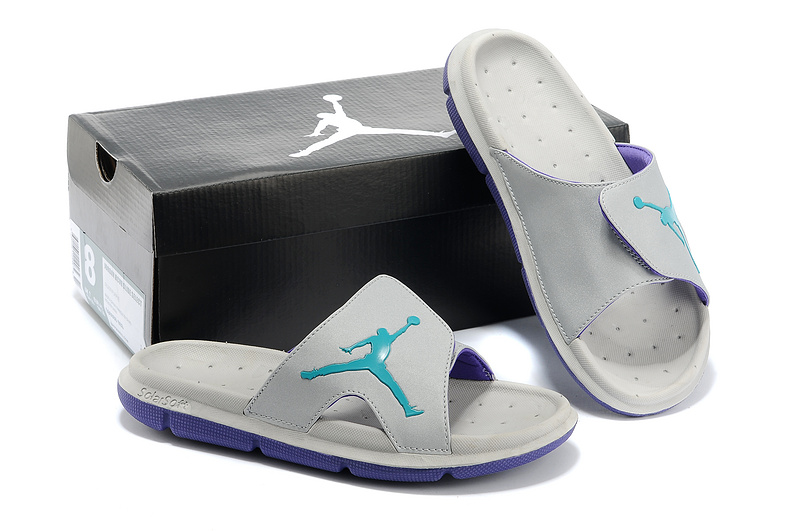 new arrival 9826d 54d31 Nike Jordan Massage Hydro Grey Green Sandal