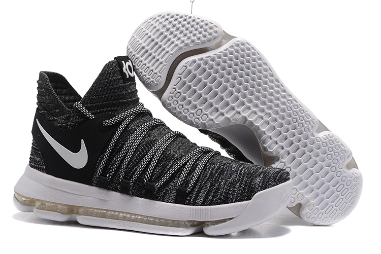 Nike KD 10 Grey Black White Shoes