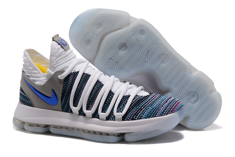 Nike KD 10 White Blue Shoes