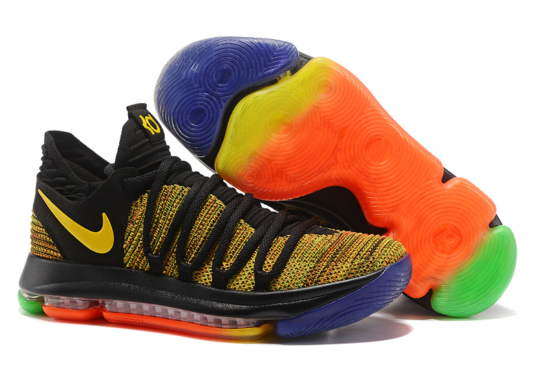 Nike KD 10 Yellow Black Orange Shoes